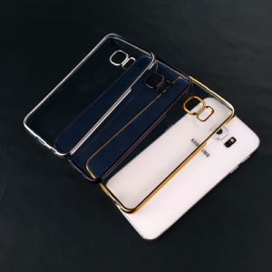 No Mould Line Electro Plating Bayer PC Phone Cover, for Samsung Galaxy S6 Edge Mobile Phone Case OEM Order Optional pictures & photos