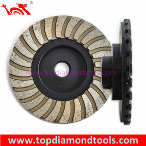 Diameter 100mm Double Turbo Layer Grinding Cup Wheel pictures & photos