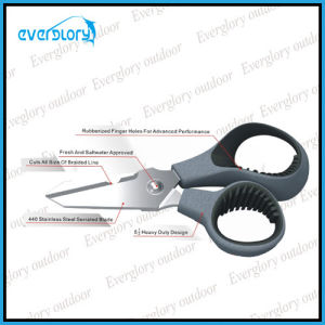 13cm Multi-Fuction Fishing Scissor with Braided Line Cut Function pictures & photos