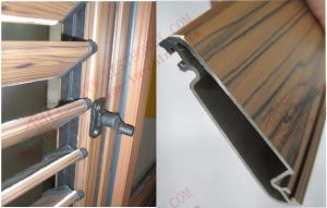 Woodgrain Aluminium Louvers Window with Adjustable Shutters (BHA-BL09) pictures & photos