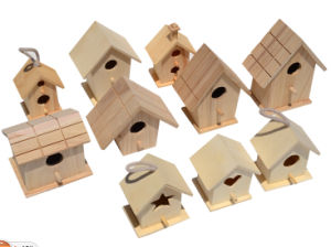 Custom Unpainted Wooden Birds Houses pictures & photos