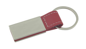 Car Promotion Branding Print Logo Color Metal Leather Keychain (F3056A)
