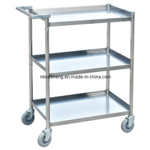 Stainless Steel Trolley /3 Tier Trolley/for Hospital & Hotel Use