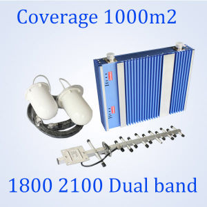 27dBm Lte 1800/ 3G 2100MHz Signal Booster Dual Band GSM Repeater St-Dw27A