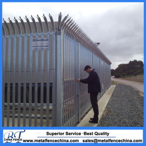Top Quality Galvanized D & W Steel Palisade Fence pictures & photos