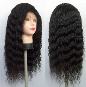 Deep Curl Human Hair Full Lace Wigs pictures & photos