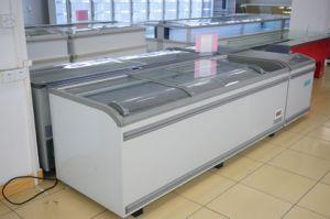 Frozen Service Counter, Frozen Meet Showcase/Cabinet, Supermarket Island Freezer pictures & photos