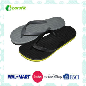 PVC Upper with Soft and EVA Sole, Men′s Slippers pictures & photos