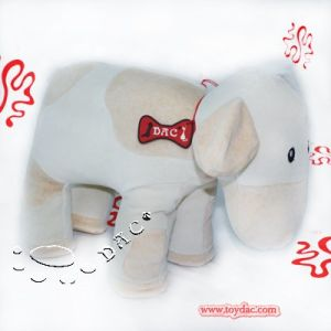 White Plush Organic Cotton Toy Cow pictures & photos