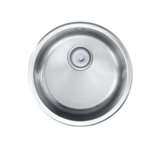 Small Round Steel Single Kitchen Sink (OP-PS311A) pictures & photos