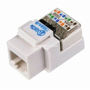 Tool-Less Cat. 5e RJ45 UTP Type Keystone Jack pictures & photos