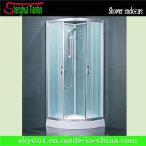 Low Tray Quadrant Frosted Glass ABS Shower Stall (TL-517) pictures & photos