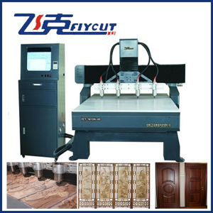 China 5 Axis Wood CNC Router, 4 Heads Spindle Wood Relief Machine pictures & photos
