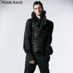 Punk Rave Gothic Palace Style Inexpensive Vest for Sale (Y-452/BK) pictures & photos