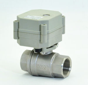 Good Sealing 2 Way Stainless Steel Electric Motorized Control Ball Valve (T20-S2-C) pictures & photos