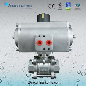 3PC Ball Valve with Stainless Steel Pneumatic Actuator pictures & photos