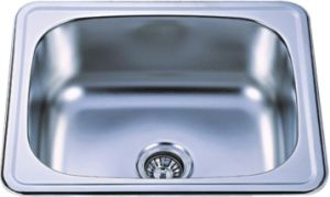 Single Bowl Top Mount Stainless Steel Kitchen Sink (KIS6050B) pictures & photos