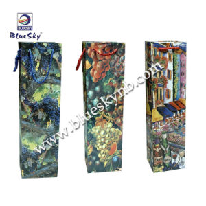 Paper Shopping Wine Bag Sets (BLY4-1204 PWB)