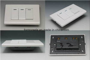 American Standard Andorra White PC 3 Gang 2 Way Electrical Wall Switch for Home pictures & photos