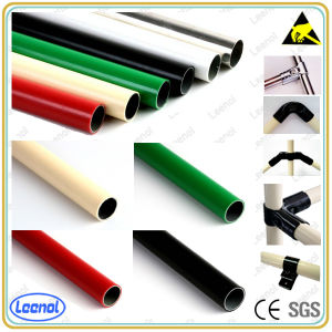 Pipe Rack System Lean Pipe with Joint Round Coated Tube pictures & photos