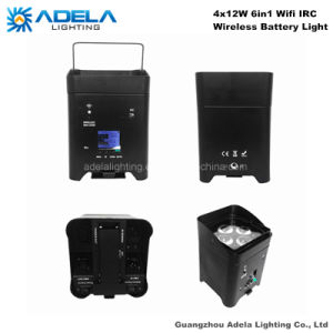 4X12W 6in1 WiFi Irc Wireless Battery Light Uplight pictures & photos