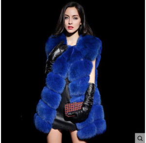 2015 Multicolor Genuine Fox Fur Vest on Sale pictures & photos