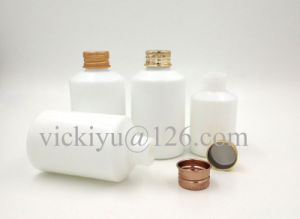 120ml Milk White Glass Bottles, Lotion Glass Bottle with Screw Top pictures & photos