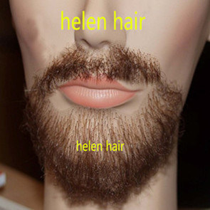 Natural Human Hair Brown Goatee Lace Beard Moustache
