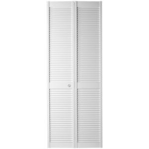 White Color Closet Bi-Fold Full Louver Door pictures & photos
