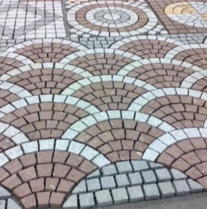 Fan Shaped Mosaic Floor Tiles Paving Stone pictures & photos