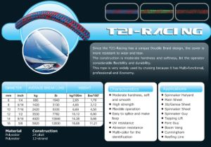 Various Sizes T21-Racing Halyad/Sheet&Control Rope for Racing/Keel Boat/Multihull pictures & photos