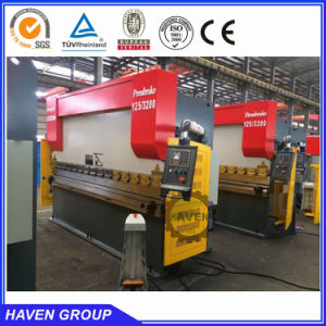 Cheap price hydraulic nc iron fold machine, bending machine with E21 system WC67K-300T/4000 pictures & photos