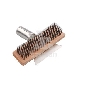 The Newest America Style Steel Wire Brush with Wooden Handle, Brush Steel Wire Brush Cleaning Brush (SJIE3034) pictures & photos