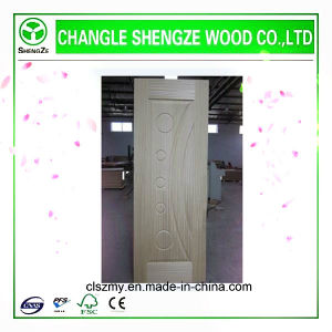 Teak Veneer HDF Moulded Door Skin pictures & photos