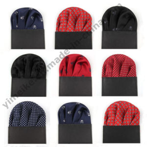 Fashionable Silk Woven Skull Design Mens Handkerchief Card for Present pictures & photos