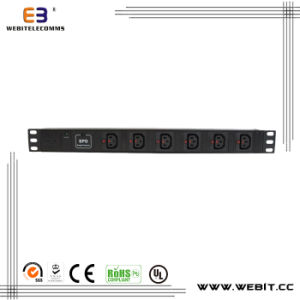 6 Ways IEC Power Strip with Surge Protective Device pictures & photos