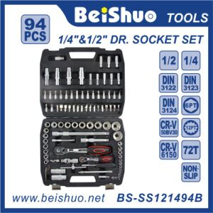 "High Quality 94PCS 1/4"" 1/2"" Dr Socket Set pictures & photos"