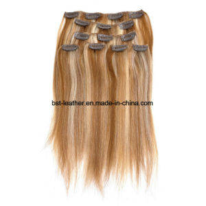 Straight Clip in Human Hair Extensions 7A Human Hair Brazilian Virgin Hair Clip in Extension pictures & photos