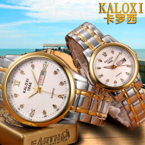 Fashion Wristwatch for Men and Women with 2-Tone Rose Gold Stainless Steel Bracelet pictures & photos