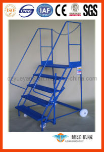 Steel Mobile Platform Ladder for Order Picker pictures & photos