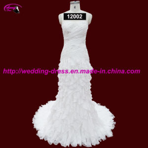 High Quality Chiffon Bridal Wedding Dress with Court Train pictures & photos