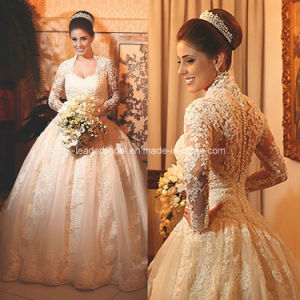 Lace Wedding Ball Gowns Long Sleeve Mulism Bridal Wedding Dresses Z5042 pictures & photos