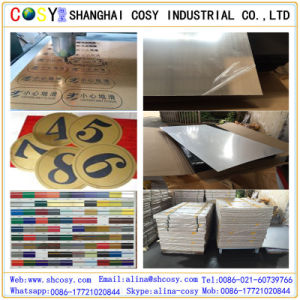 High Quality 0.8mm-3mm ABS Double Color Sheet for Laser Engraving pictures & photos