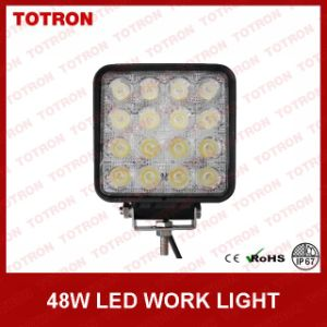 Super Bright 48W Square LED Work Light 2880lm