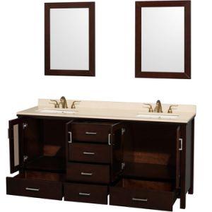 """Lucy 72"""" Double Bathroom Vanity Set Undermount - Espresso pictures & photos"""