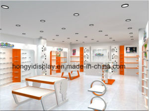 Lovely Wooden Children Shoes Display Furniture in Shopping Mall Kiosk pictures & photos