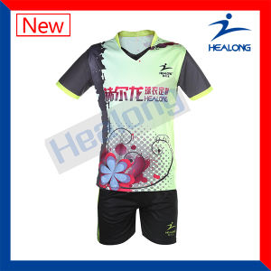 Healong Sports Jersey Custom Designs Unisex Full Sublimation Badminton Set (Sportswear) pictures & photos