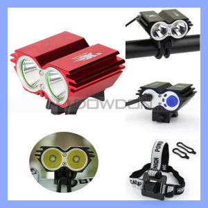 2000lm 2X CREE Xm-L U2 20W LED Head Front Bicycle Lamp Bike Light pictures & photos