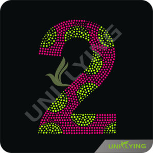 Number 2 Design Heat Press Rhinestone Motif