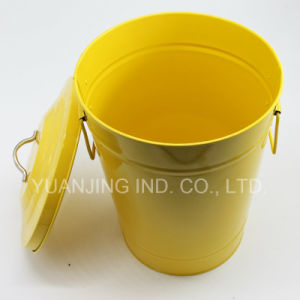 High Quality Galvanized Metal Colorful Wastebin Container with Decal pictures & photos